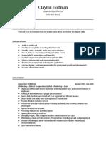 resume - clayton hoffman  3