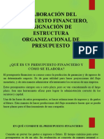 ELABORACIÓN DEL PRESUPUESTO FINANCIERO, ASIGNACIÓN DE ESTRUCTURA ORGANIZACIONAL DE PRESUPUESTO.pptx