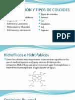 CLASIFICACIÓN Y TIPOS DE COLOIDES