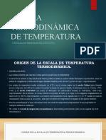 ¿Qué es la Escala de Temperatura Termodinámica?