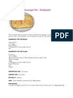 Potatoes and Sausage Pie
