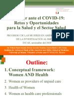 La mujer ante el COVID-19