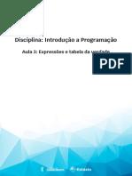 Aula 3 - Expressões e tabela da verdade.pdf
