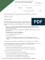Disinstallare manualmente Office 2016 o Office 365 - Supporto di Office