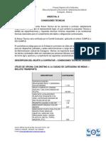 ANEXO No. 8 CONDICIONES TECNICAS MC 11- 2020 - ADENDA No. 2 MC 11-2020