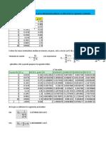 Ejercicios de Excel Para Entregar Fisicoquimica