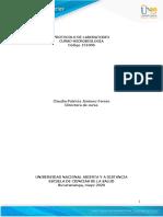 Protocolo transitorio práctica Microbiologia - Contingencia COVID 19