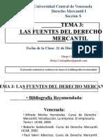 Tema 3 - Las Fuentes del Derecho Mercantil Clase 11-12-2015