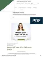 Resolución 1080 de 2019 (cascos motos)