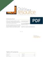 Osirix as a Resource