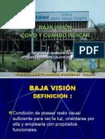 BAJA VISIÓN COMO Y CUANDO INDICAR