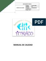 MANUAL DE CALIDAD RESTAURANTE TUMACO