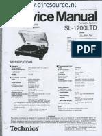 Technics SL1200LTD Service Manual