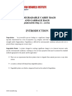 PROJECT REPORT ON BIODEGRADABLE CARRY BAGS AND GARBAGE BAGS
