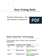 4_Lecture 4_Sentence Structures