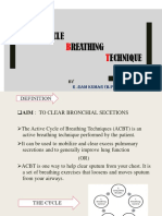 Active cycle breathing technique