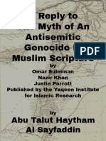 A Reply to The Myth of an Antisemetic Genocide in Muslim Scripture
