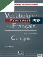 4.1.Vocabulaire progressif du français _ avec 675 exercices _ niveau perfectionnement