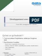 Cours Android Développement avec Android.ppt