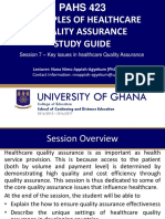Session slides 7 - Key issues in healthcare quality Assurance.pdf
