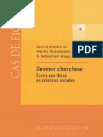 Ecrire une thèse en sciences sociale_Devenir chercheur