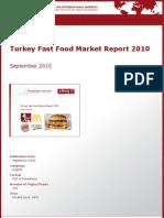 Turkey Fast Food Market Report 2010 by yStats