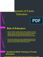Components of Career Education