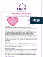 Newsletter 9th February 2011