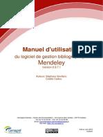 Mendeley-manuel dutilisation