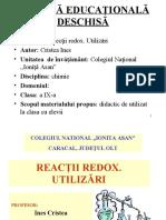9 Chimie Cristea Ines Reactii Redox. Utilizări