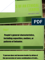 Traits of an ethical leader