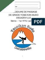 Passage de kyu adulte Decazeville