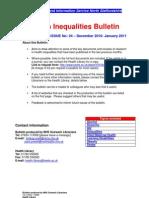 Health Inequalities Bulletin 24 December 2010 - January 2011