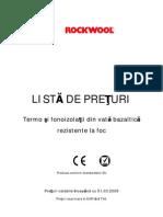 preturi_lista_termoizolatii_vata_bazaltica_rockwool_2009