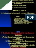Strategia de dezvoltare rurala a comunei Calugareni ppt