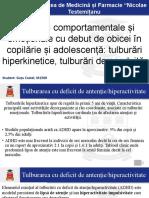 ADHD Tulburari de Conduite