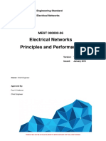 L1-CHE-STD-015 Electrical Networks Standard Electrical Networks Principles And Performance