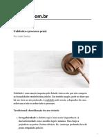 Nulidades e processo penal