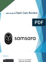 Samsara Dash Cam Review