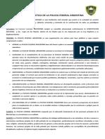 codigo de deontologia Policia Federal Argentina