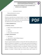LABORATORIO N° 4 (PREPARACIÓN DE PROBETAS PARA DETERMINAR EL POTENCIAL DE CORROSION) TRABAJO GRUPAL