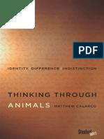 thinking through animals Calarco