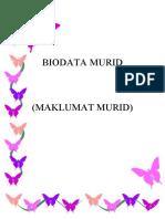 Lampiran 3 - Biodata Murid - Maklumat Murid