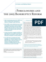 Subprime Foreclosures and the 2005 Bankruptcy Reform