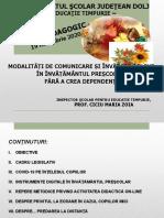 Cerc pedagogic  19 nov 2020