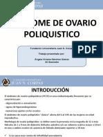 SINDROME DE OVARIO POLIQUAITICO. ANGELA VIVIANA SANCHEZ