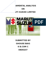 fundamental analysis of maruti suzuki ltd