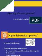 Qué significa ser persona