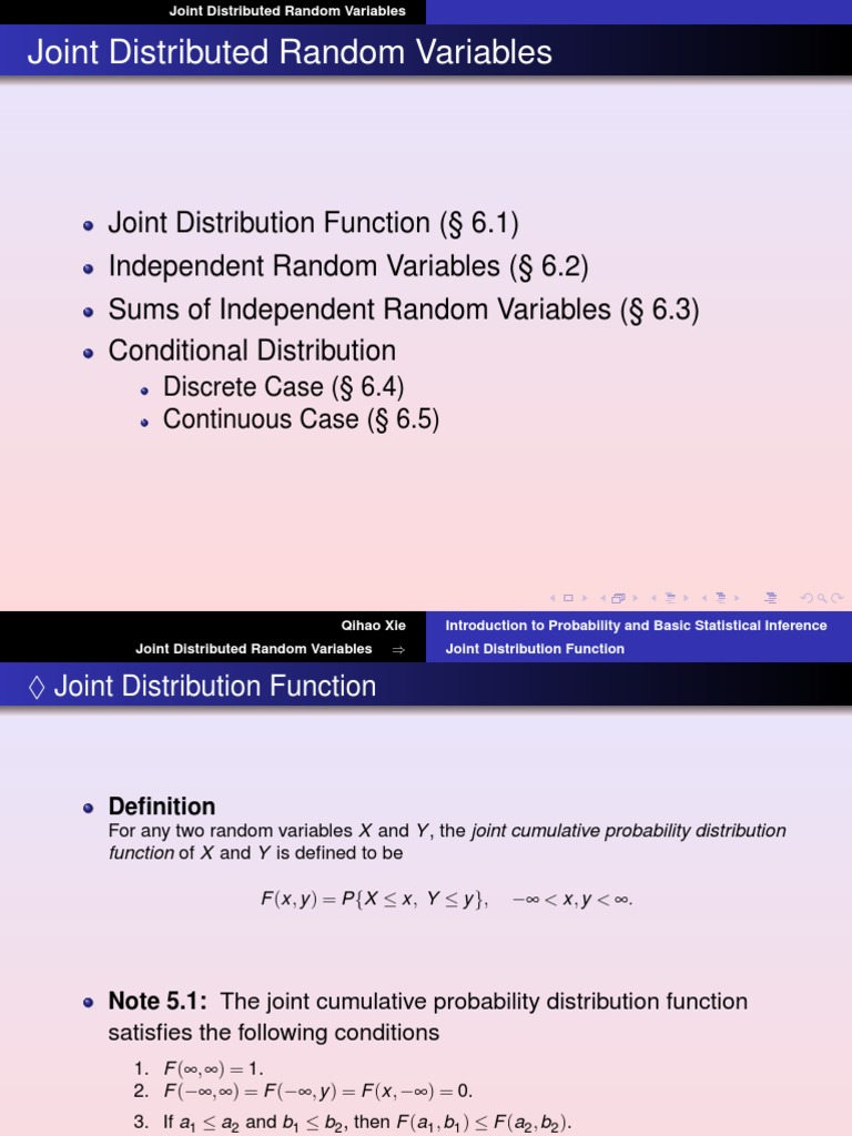 Lecture Notes 07 | Probability Distribution | Probability Density