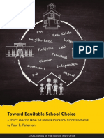 Toward Equitable School Choice by Paul E. Peterson
